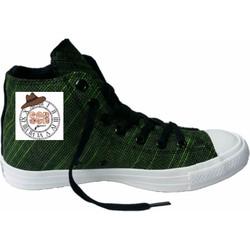 Giày vải Conver Knit xanh rêu cao cổ 07