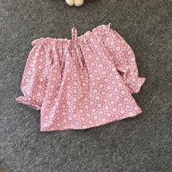 Áo hở vai tiểu thư dễ thương cho bé gái 1-8 tuổi