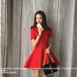 Đầm xòe đơn giản mang phong cách Hàn Quốc DT68