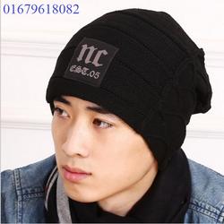 nón mũ chụp đầu nam, nón mũ len nam NC thiết kế Hàn