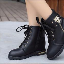 B018D - Giày bốt nữ đẹp, phong cách Hàn Quốc