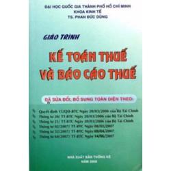 Giáo trình kế toán thuế và báo cáo thuế
