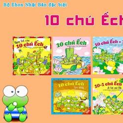 Truyện thiếu nhi-Combo 06 cuốn Ehon Nhật bản-10 chú ếch