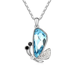 Dây chuyền pha lê bươm bướm kiểu mới thời trang xinh xắn qcn10687