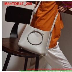 Túi đeo đi tiệc đi chơi phối khoen tròn lạ mắt sang trọng TDE47