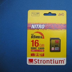 Thẻ nhớ SDHC Nitro Strontium 16GB