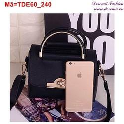 Túi đeo đi chơi đi tiệc phối viền vàng nổi bật sang trọng TDE60