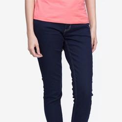 Quần jeans skinny ống đứng màu xanh đen