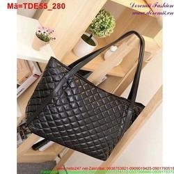 Túi đeo đi chơi đi tiệc đan chéo màu đen sang trọng TDE55