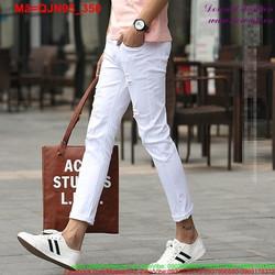 Quần jean nam trắng rách phong cách trẻ trung QJN95
