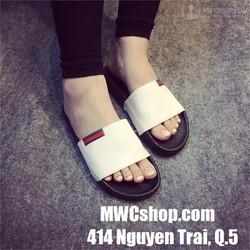 Dép sandal nữ màu trắng giá rẻ