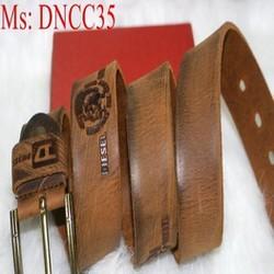 Dây nịt nam xỏ kim chất liệu da bò cao cấp sang trọng DNCC35