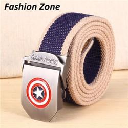 thắt lưng vải Hàn Quốc thời trang America Captain dành cho nam