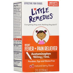 Thuốc hạ sốt và giảm đau Little Remedies Fever+Pain Reliever