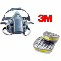 Bộ mặt nạ phòng độc 3M. 7501 và 2 phin lọc 3M. 6003 - HÀNG CHÍNH HÃNG