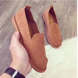 giày mọi da nhung trơn