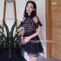 ĐẦM XÒE REN QUẢNG CHÂU - HÀNG SHOP
