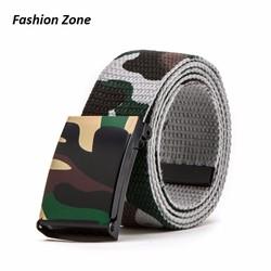 thắt lưng rằn ri thời trang Hàn Quốc khóa mặt vuông dành cho nam nữ