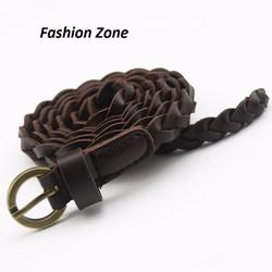 thắt lưng bện dây giả da buộc eo thời trang dành cho nữ