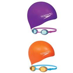 Combo nón bơi kính bơi Speedo nhập khẩu