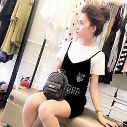 Set váy yếm kèm áo thun DU11794