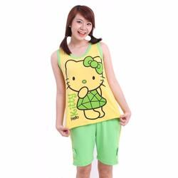 Bộ đồ short ngắn Hello Kitty - Vàng