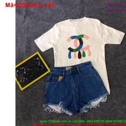 Quần short jean nữ lưng cao lai tua rua đáng iu QSO305