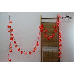 Dây đèn led Lá phong đỏ 7m