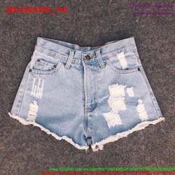 Quần short jean nữ rách phong cách bụi bặm QSO295