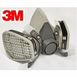 Bộ mặt nạ phòng độc 3M 6100 và 2 phin lọc bụi 3M 6001