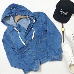 Áo khoác jean có nón