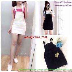 Váy yếm jean phong cách thời trang sành điệu QYB44