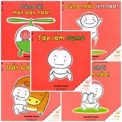 Bộ 5 cuốn Ehon Chơi Cùng MoMo Chú Bé Quả Đào