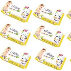 Combo 10gói khăn ướt Unifresh loại 20 miếng 1 gói hương VitaminE