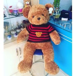 Gấu bông teddy áo len lông xù cao cấp