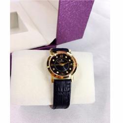 Đồng hồ mặt sapphire dây da thời trang