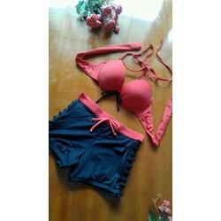 Bikini quần short áo đỏ thời trang