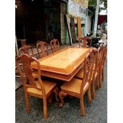 Bàn ghế phòng ăn gỗ căm xe rừng