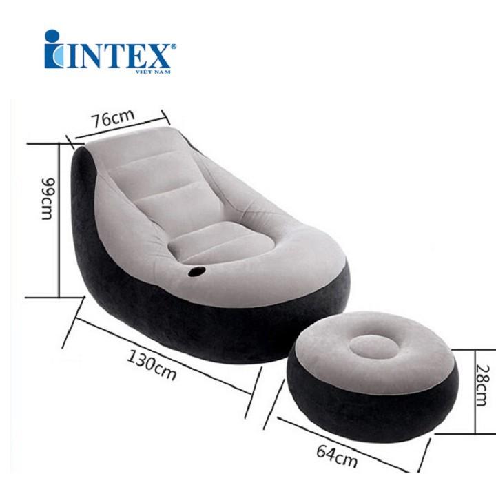 Ghế Hơi Tựa Lưng Intex kèm bơm điện 4
