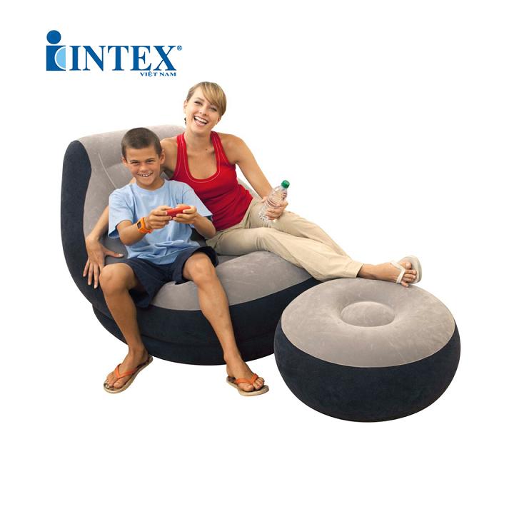 Ghế Hơi Tựa Lưng Intex kèm bơm điện 5