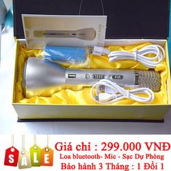 Micro Karaoke Bluetooth -Tích hợp sạc pin dự phòng
