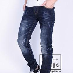 Quần Jeans nam skinny xước bụi thời trang DT398
