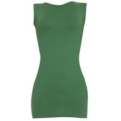 Áo váy đầm thun nữ dáng ôm form dài bodycon sát nách ZENKO DAM 0065 GR