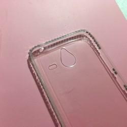 Nokia Lumia 640XL - Ốp lưng điện thoại nhựa dẻo TPU viền đính đá