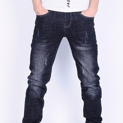 Quần Jeans nam xước nhẹ thời trang DT375
