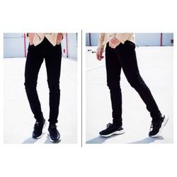 Quần Jean đen ống suông