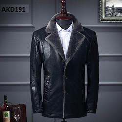 Áo khoác da nam cao cấp  lót lông