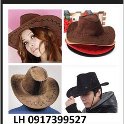 Nón mũ phớt Nón mũ cao bồi nam nữ THỜI TRANG CHÂU ÂU mới L12RV18