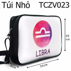 Túi chéo Cung thiên bình nền trắng - VTCZV023