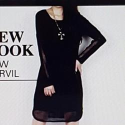 Đầm thun nữ thiết kế phối lưới độc đáo, phong cách cá tính.
